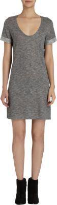 Barneys New York Short Sleeve Low Scoop Neck T-Shirt Dress