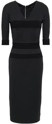 Victoria Beckham Striped Wool And Silk-blend Crepe Dress