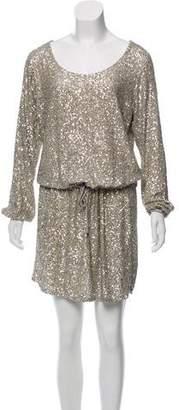 Silvia Tcherassi Long Sleeve Sequined Mini Dress