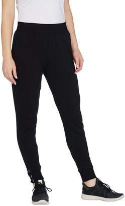 Denim & Co. Active French Terry Jogger Pants w/ Lace Up Cuff
