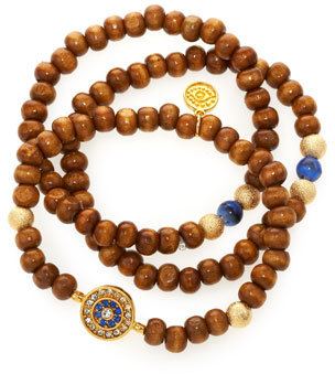 Blee Inara Wooden Evil Eye Bracelet Set (Stylist Pick!)