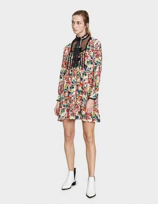 Ganni Maple Silk Dress