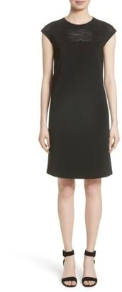 Women's Lafayette 148 New York Laser Cut Shift Dress $598 thestylecure.com