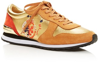 Tory Burch Brielle Lace Up Sneakers $225 thestylecure.com