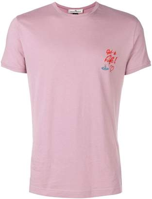 Vivienne Westwood embroidered slogan T-shirt
