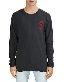 Ksubi Spray Dollar Ls Tee Back To Black
