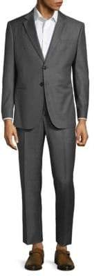Giorgio Armani Checkered Wool Suit