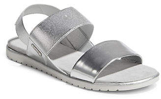 Bugatti Metallic Rubber Flat Sandals