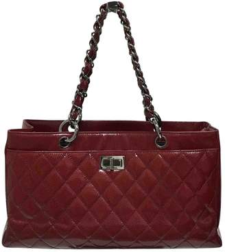 Chanel Executive Burgundy Patent leather Handbag