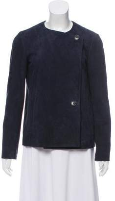 Theory Suede Collarless Jacket