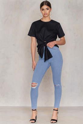 NA-KD Na Kd Ripped Knee Skinny Highwaist Jeans