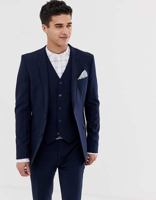 Asos Design DESIGN super skinny fit suit jacket in navy