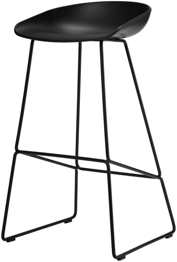 Hay - About A Stool AAS 38 -Barhocker H 74, Schwarz
