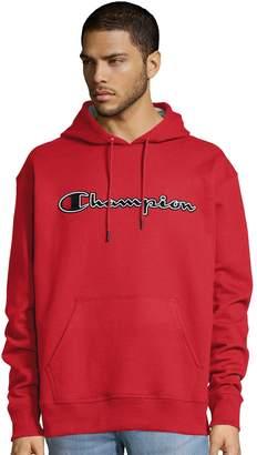 Champion Men's Script Logo Pull-Over Hoodie