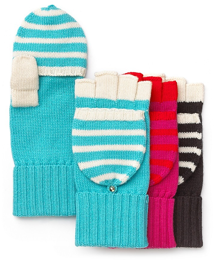 Kate Spade Fall In Line Pop-Top Gloves