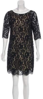 Robert Rodriguez Lace Long Sleeve Mini Dress
