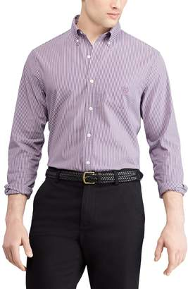 Chaps Men's Regular-Fit Striped Stretch Easy-Care Button-Down Shirt