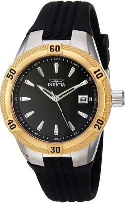Invicta Women's 'Angel' Quartz Stainless Steel and Silicone Casual Watch, Color: (Model: 24598)