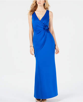 Jessica Howard Surplice Rosette Scuba Gown