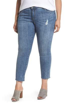 KUT from the Kloth Reese Distressed Ankle Straight Leg Jeans