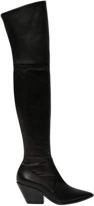 Casadei Cuissard Boots With Cuban Heel