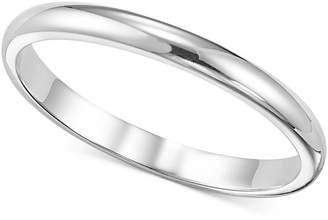 Macy's Women's Ring, 2mm Platinum Wedding Band