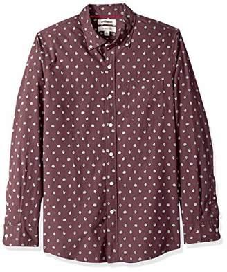 Goodthreads Men's Slim-Fit Long-Sleeve Printed Poplin Shirt