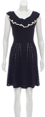 Philosophy di Lorenzo Serafini Knit Ruffled Dress