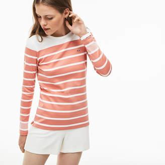 Lacoste (ラコステ) - ボーダー クルーネックTシャツ (長袖)