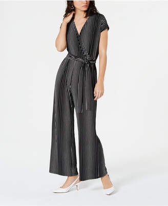 Alfani Printed Wide-Leg Jumpsuit
