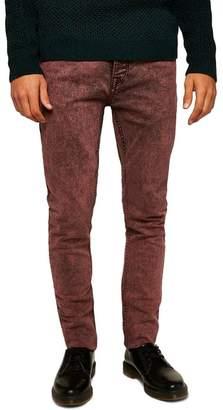 Topman Acid Wash Stretch Skinny Jeans