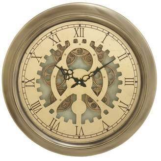 Brimfield & May Atlas Vintage-Style Metal Wall Clock