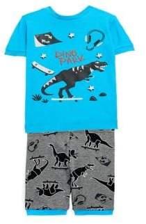 Petit Lem Little Boy's Two-Piece Dinosaur Pyjama Set