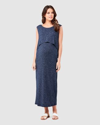 Ripe Maternity Swing Back Maxi Nursing Dress