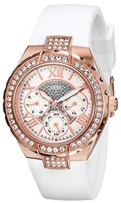 GUESS Women's U0300L2 Mid-Size Multi-Function Watch with Rose Gold-Tone Case & Genuine Crystal Accents
