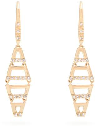 Susan Foster Diamond & yellow-gold earrings