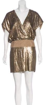 Haute Hippie Silk Sequined Mini Dress