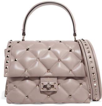 Valentino Garavani Candystud Quilted Leather Shoulder Bag - Blush