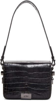Off-White Off White Black Croc Flap Bag