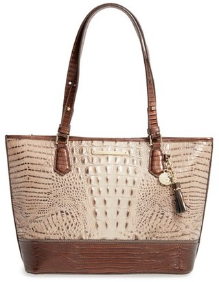 Brahmin 'Medium Asher' Embossed Leather Tote $295 thestylecure.com