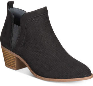 Style&Co. Style & Co Women's Myrrah Perforated Ankle Booties, Created for Macy's Women's Shoes