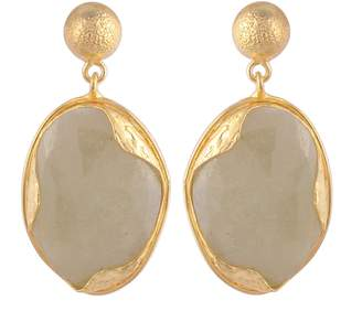 Carousel Jewels - Sapphire & Gold Nugget Drop Earrings