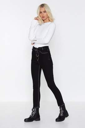 Nasty Gal Not Sew Fast Skinny Jeans