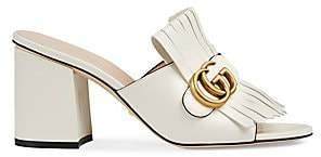452da3ecc7 Gucci Women's GG Marmont Slide Heeled Sandals
