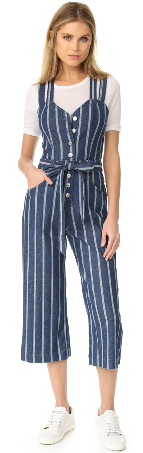 7 For All Mankind 7 For All Mankind Button Front Jumpsuit