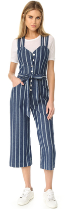7 For All Mankind Button Front Jumpsuit $299 thestylecure.com