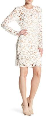 Alexia Admor Lace Knit Sheath Dress