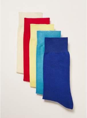 Topman Mens Multi Bright Color Socks 5 Pack