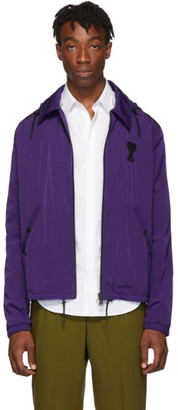 Ami Alexandre Mattiussi Purple Hooded Zip-Up Jacket
