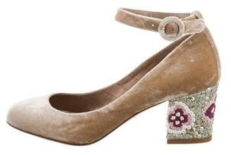 Dolce & Gabbana Embellished Mary Jane Pumps w/ Tags